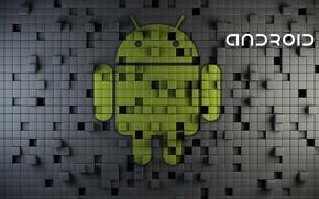 Картинка logo, robot, android, google, rendering