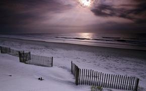 Обои море, небо, песок