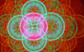 Картинка круги, цветы, абстракция, пузыри, фон, рисунок, графика, шар, фрактал