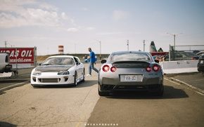 Картинка nissan, turbo, white, supra, japan, toyota, ниссан, jdm, tuning, gtr, power, front, race, тойота, face, …