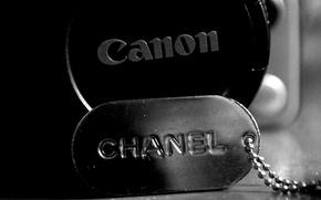 Картинка монохром, canon, chanel