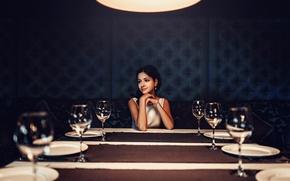 Картинка улыбка, ожидание, невеста, Маша, свадебный стол