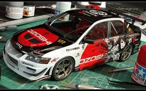 Картинка Mitsubishi, Evo IX, 3D Car, Mini Model, Coloring