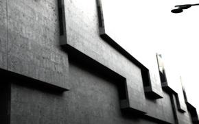 Обои серый, кубы, углы, здание
