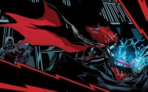 Картинка красный, comics, Batwoman