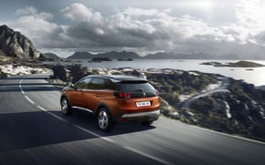 Картинка дорога, car, авто, скорость, Peugeot, road, speed, 3008