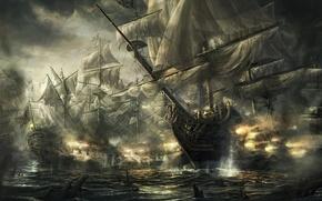 Картинка Empire: Total war, Британия, Сражение, Парусники