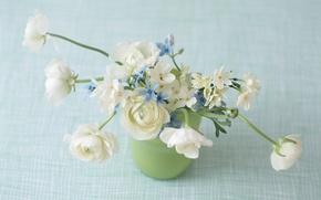 Обои цветы, цветы в вазе, нежная композиция