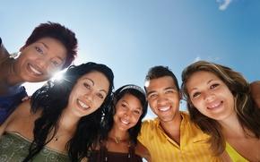 Картинка smiles, selfie, group of friends