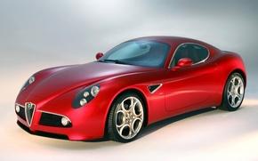 Картинка Alfa Romeo, red, Car, tuning, front, Super, chrome