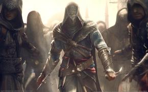 Обои мастер, нож, клинок, assassin's creed, эцио, revelations, аудиторе