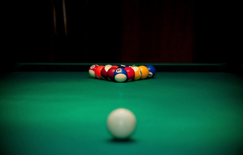 Фото обои стол, шары, спорт