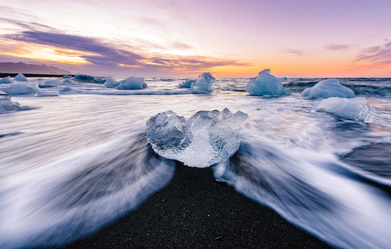 Обои ледниковая лагуна йёкюльсаурлоун, Исландия. Природа foto 8