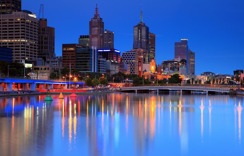 Обои melbourne, downtown, мельбурн, Australia, ночь, австралия. Города foto 10