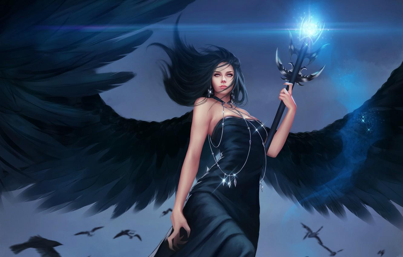 Обои Фантастика, падший ангел, крылья. Фантастика foto 8