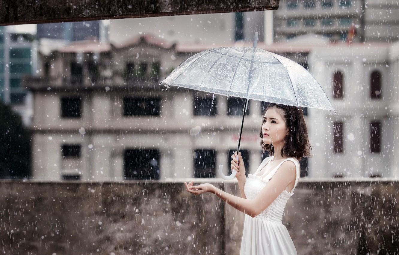 Дождь и девушки в картинках