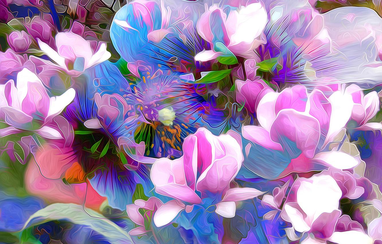 Обои краски, цветы. Абстракции foto 10