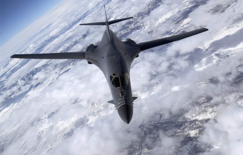 Фото обои самолет, Lancer, бомбардировщик, Nevada, B-1B