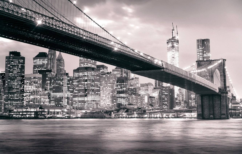 Обои Brooklyn bridge, new york, бруклинский мост. Города foto 18