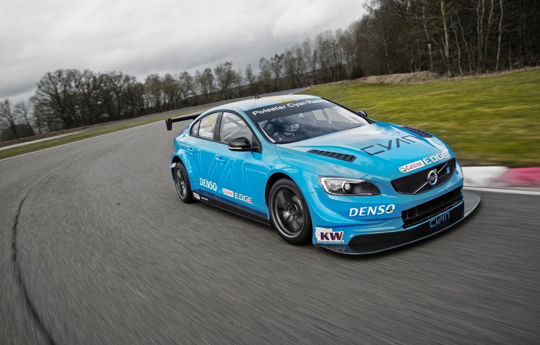 Фото обои Volvo, вольво, S60, WTCC, Polestar
