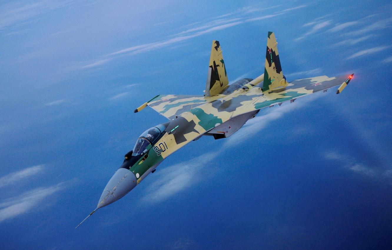 Обои сверхманевренный, Самолёт, многоцелевой, Su-35. Авиация foto 7