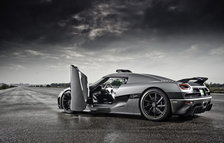 Фото обои дождь, Koenigsegg, supercar, Agera, track, кёнигсег