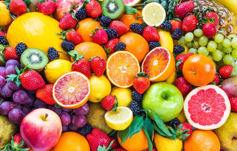 Фото обои ягоды, фрукты, fresh, fruits, berries