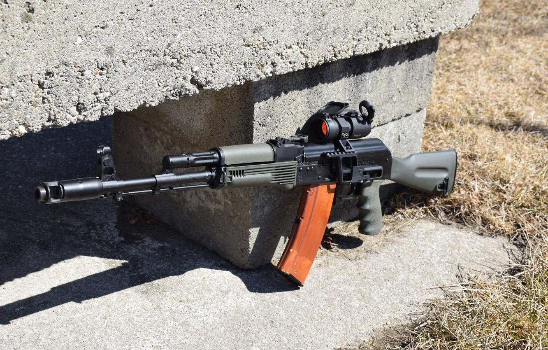 Фото обои оружие, автомат, калаш