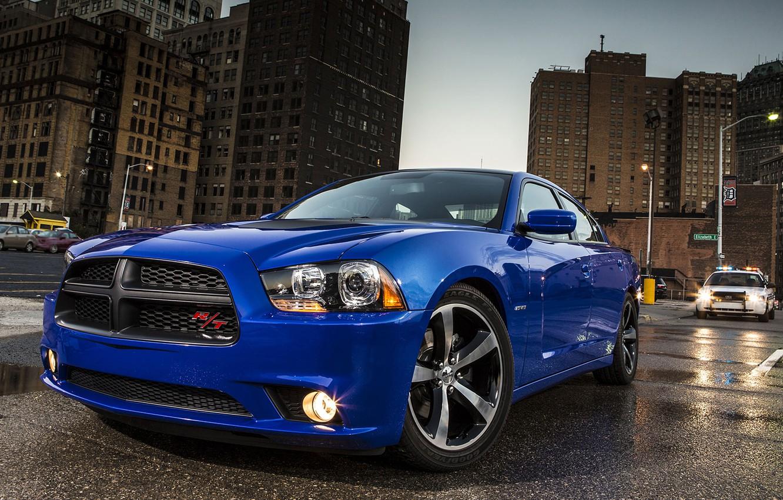 Фото обои Машина, Синяя, Додж, Dodge, Car, Автомобиль, Charger, Wallpapers, Чарджер, Обоя, Передок, Daytona, Дайтона