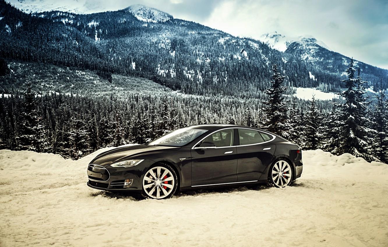 Фото обои Tesla, Model S, 2014, тесла, P85D