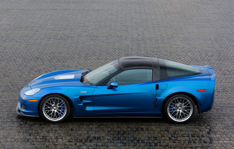 Фото обои синий, corvette, zr1