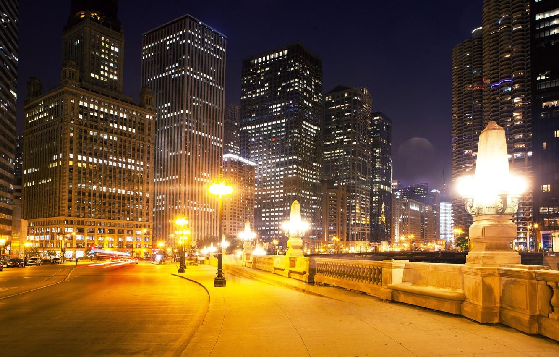 Обои тротуар, здания, свет. Города foto 19
