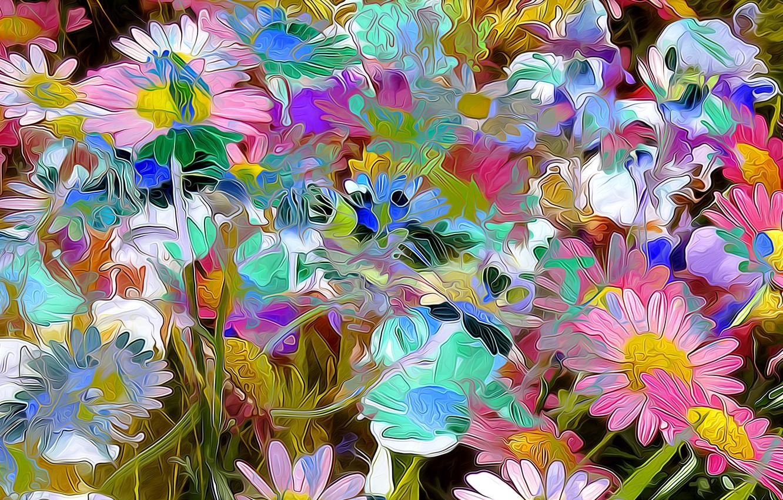Обои луг, цветы. Абстракции foto 8