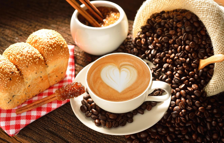 Фото обои любовь, сердце, кофе, молоко, чашка, love, heart, какао, coffe