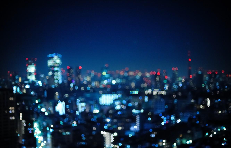 Обои Япония, ночь. Города foto 7