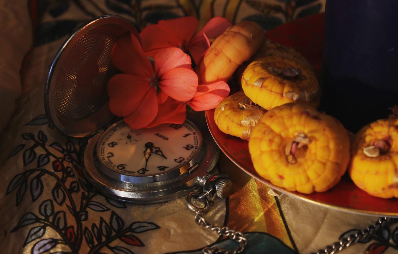 Обои цветы, натюрморт, сервиз, тарелка, стол. Разное foto 17