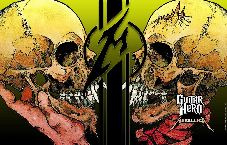 Фото обои музыка, череп, music, Rock, Рок, Metallica, трэш-метал, thrash metal, тяжелый рок, hard rock, heavy metal, …
