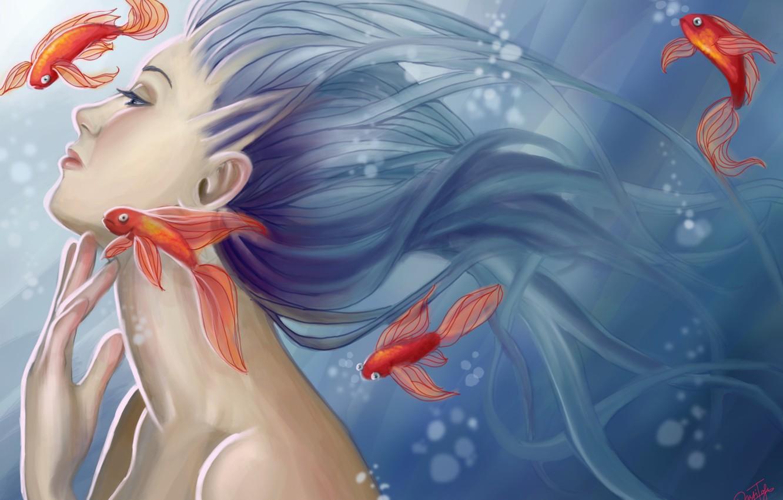 Девушки золотые рыбки картинки
