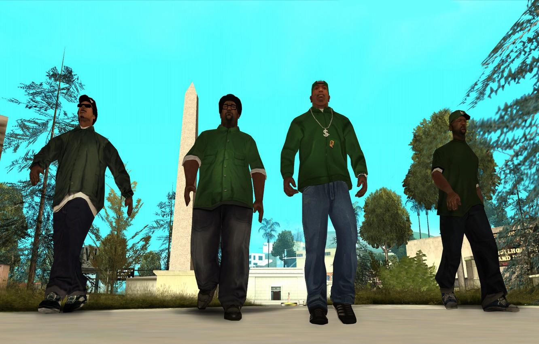 Фото обои Райдер, Карл Джонсон, Grand Theft Auto, Sweet, Мелвин Харрис, San Andreas, Биг Смоук, Шон Джонсон, …
