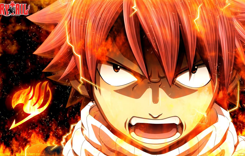 Фото обои огонь, пламя, аниме, арт, ярость, Fairy Tail, Сказка о хвосте феи, Natsu Dragneel, deiviscc