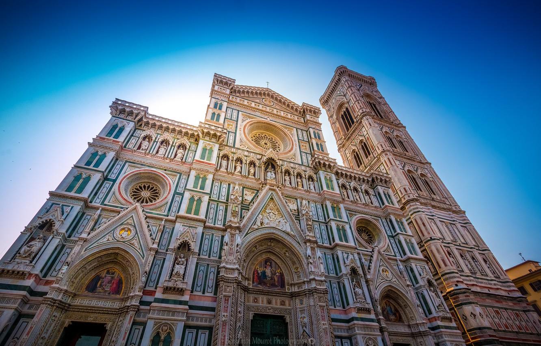 Обои собор санта-мария-дель-фьоре, купол, флоренция, дома, колокольня Джотто. Города foto 19