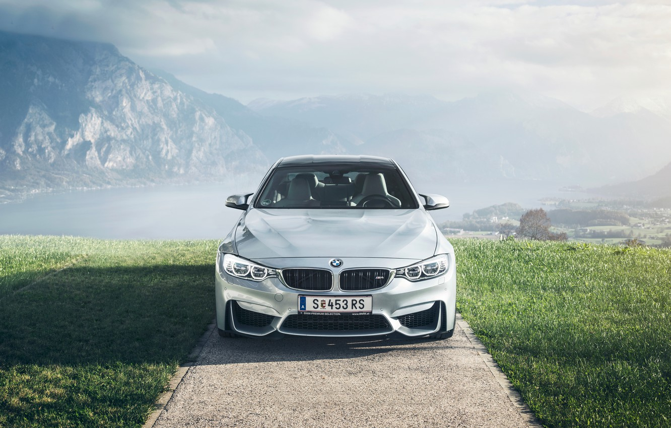 Фото обои BMW, German, Car, Front, Sport, Austria, Fog