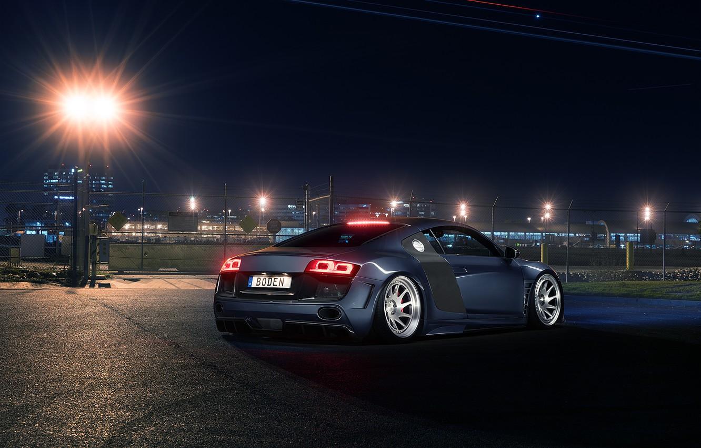Фото обои Audi, Light, Design, Sportcar, Airport, Prior, Rear