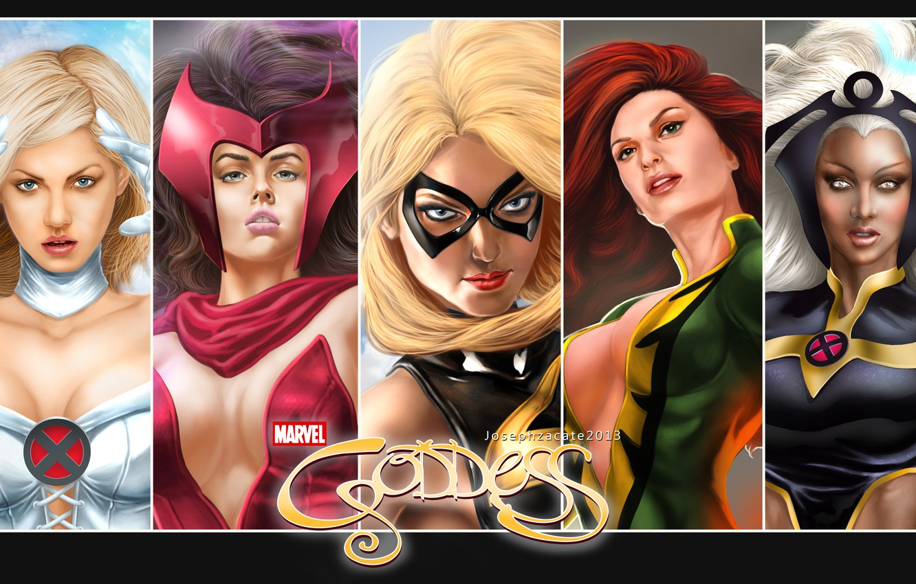 Фото обои феникс, Storm, Marvel, Emma Frost, Scarlet Witch, Warbird, MS Marvel, Jean Grey-Summers