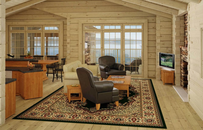 Фото обои дизайн, дом, стиль, интерьер, коттедж, жилая комната, cottage interior