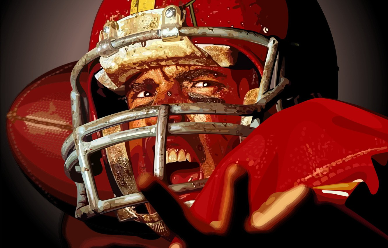 Фото обои вектор, регби, шлем, спортсмен, американский футбол