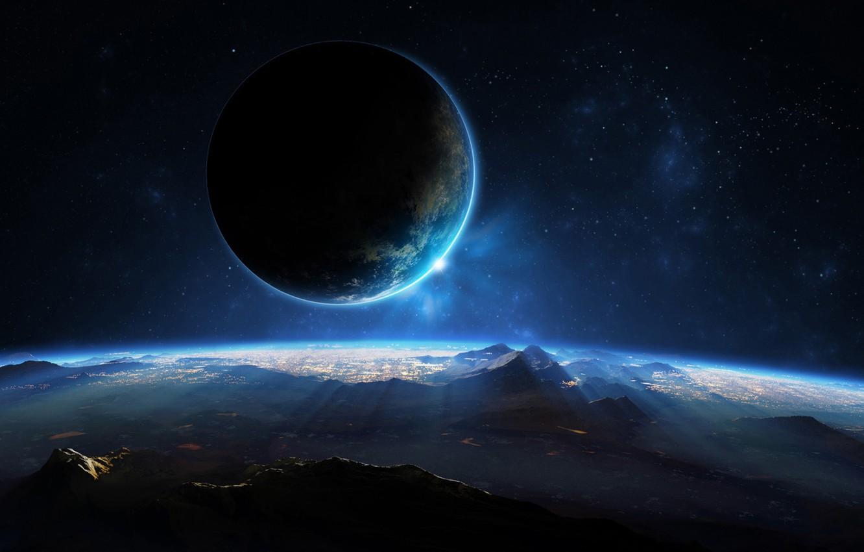 Фото обои space, landscape, view, planet, sci fi
