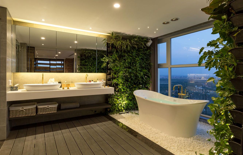 Фото обои дизайн, Интерьер, ванная комната