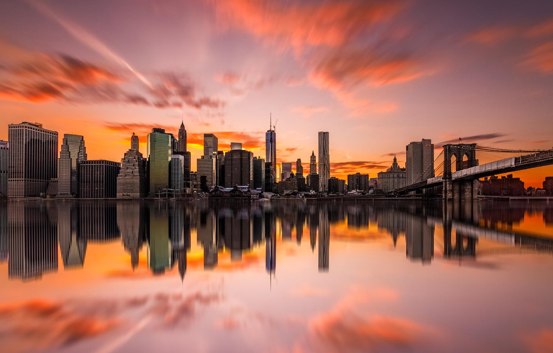 Фото обои город, здания, Нью-Йорк, небоскребы, USA, США, NYC, New York City