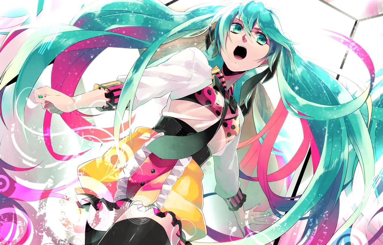 Фото обои девушка, аниме, арт, галстук, Hatsune Miku, Vocaloid, Вокалоид, matoki